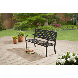 Outdoor Bench Seat Garden Park Porch Patio Metal Furniture Yard Backyard NEW