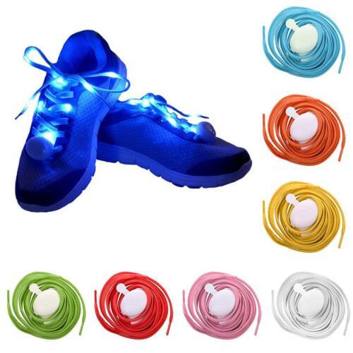 Paires Lacets lumineux LED Coloré Fête Disco Dance Etanche Cordon Sangle Fils