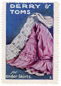 I-B-Cinderella-Collection-Derry-amp-Toms-Publicity-Stamp-Under-Skirts
