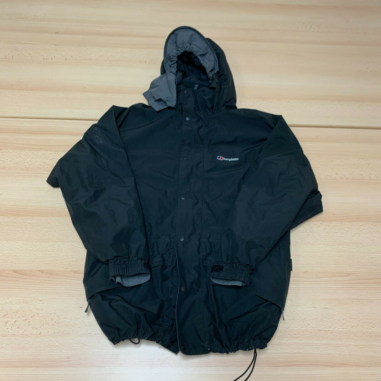 Berghaus Coat Womens Size 14 Black Waterproof GORE-TEX Full Zip Hooded Jacket