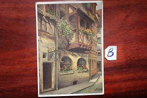 Carte Postale Bavière Nuremberg Hans Sachs Maison-afficher Le Titre D'origine Promouvoir La Santé Et GuéRir Les Maladies