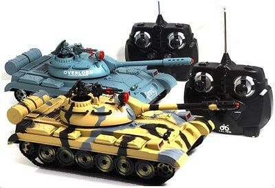Remote Control Battle Tanks Infra-Red Laser Power Max Maneuvers set of 2 RC Tank