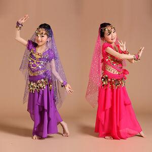 AK002-NEW-Girls-Kids-Belly-Dance-Costume-Indian-Bollywood-Oriental-Carnival-Set