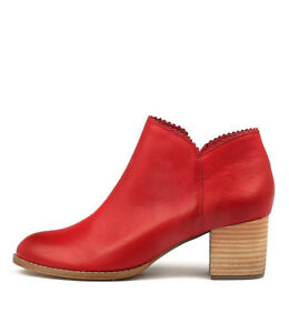 New-Django-amp-Juliette-Sharon-Red-Womens-Shoes-Casual-Boots-Ankle