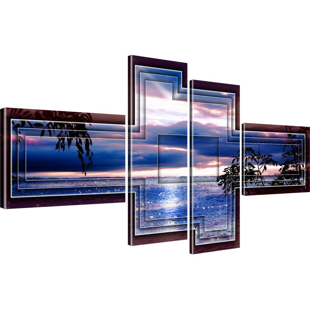 Sonnenuntergang Ozean Horizont Bilder auf Leinwand Digitalart
