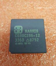 HARRIS CG80C286-12 VINTAGE CPU RARE INTEL ' 82 ' 85 CERAMIC GOLD PLATED PINS