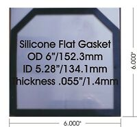 Hho High Temp Flat Silicone Rubber Gaskets 1.44 Mm/0.055 Qty: 24 Free Shipping