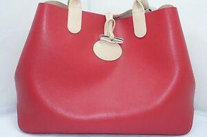 acf923b7d2 Longchamp roseau reversível de Ombro Bolsa de Mão Bolsa Vermelha ...