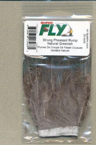 natural green pheasant rump strung