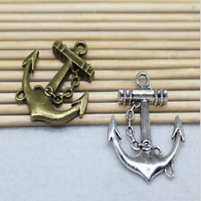 BC1362 5 Anchor Charms Antique Bronze Tone 2 Sided