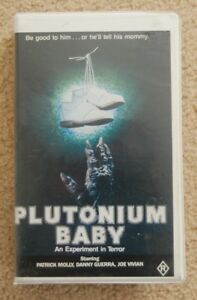 Plutonium-Baby-vhs-horror-toxic-avenger-swamp-thing-rare-1987-oop-PAL-1982