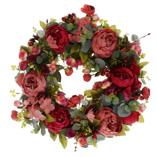 Gorgeous Decorative Floral Wreath Peony Flower Home Door Wreath Decoration