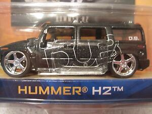 JADA-Dub-City-Hummer-H-2-052-1-64-scale-Die-Cast-NIP-w-Trading-Card-black