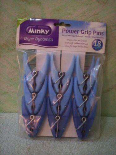 SEALED On Sale POWER  GRIP  PINS 18 pack Minky  Dryer Dynamics blue