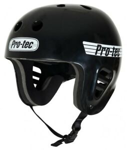 Pro-tec full cut casque-blanc brillant