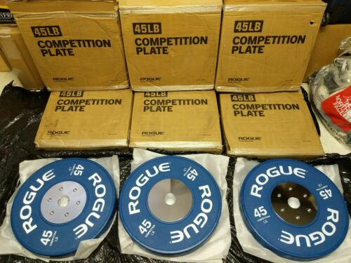 Rogue Competition LB Plates 45 LB Pair-$525 NEW
