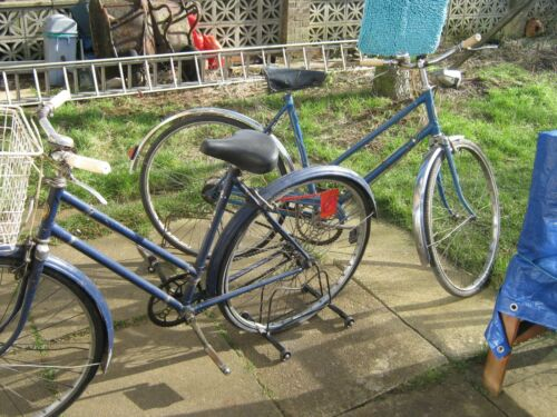 BSA PAIR OF LADIES CYCLES GENUINE GARAGE FINDS GOOD CONDITION FOR AGES AS SHOWN