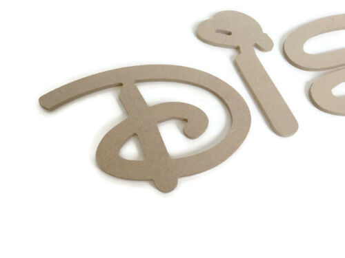 MDF Wooden Alphabet Letters /& Numbers 6mm Thick Disney Font