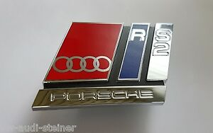 Original audi emblem schwarz a6 4g 13