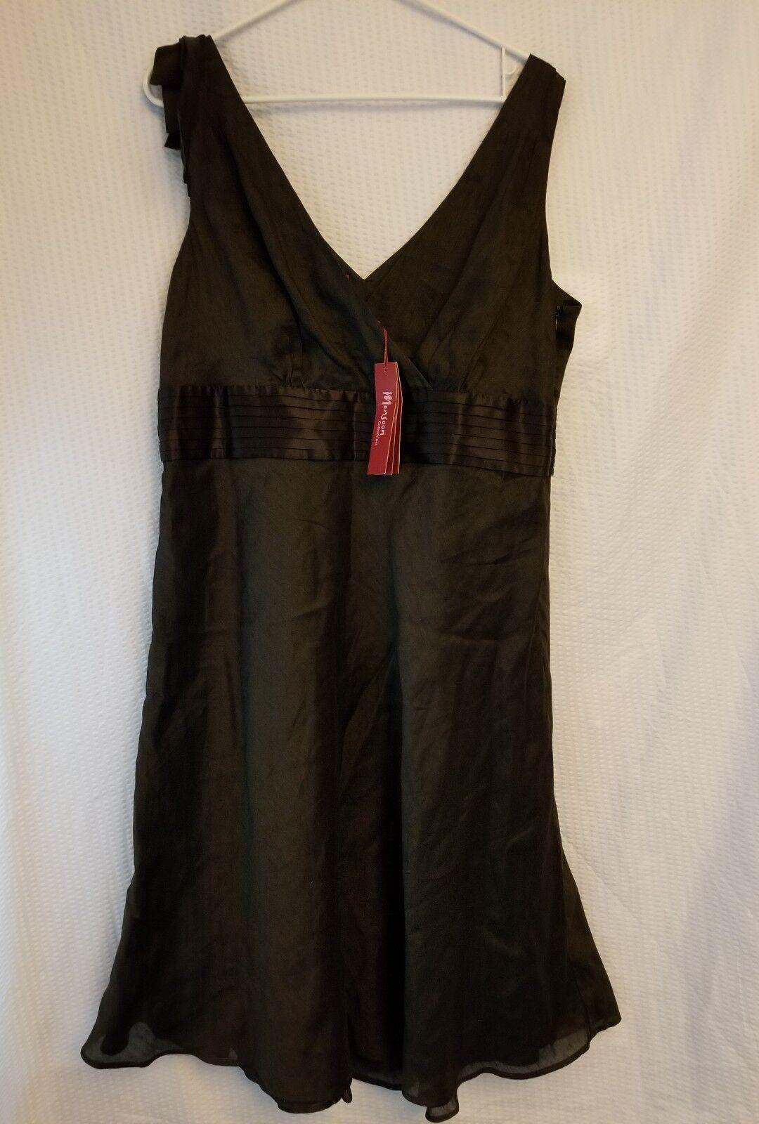 Women's Monsoon Black Silk Linen Blend Dress See Description For Size NWT