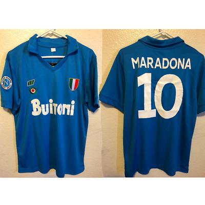 Maradona Napoli Mars Retro Scudetto 1988 Soccer Jersey