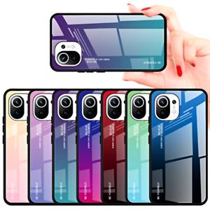COVER per Xiaomi Mi 11 Lite CUSTODIA ORIGINALE Gradient Glass + VETRO TEMPERATO