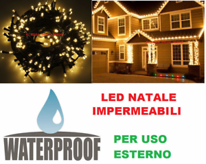 LED-ORO-uso-esterno-pioggia-luce-dorata-albero-Natale-Luci-Natalizie-serie-acqua
