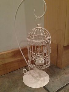 12-xcream-Ivoire-pendaison-Birdcage-papillons-rose-tea-light-holderswedding-tableau