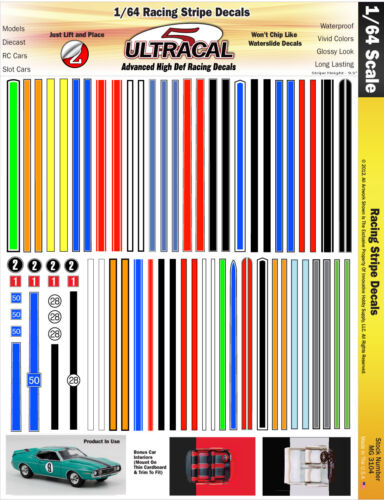 MG3104-1//64 HO UltraCal High Def Decals Racing Stripes