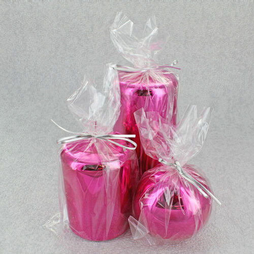 Pink Glass Effect Candles By G Decor