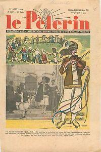"""Costumes Régions de France Mariage de Paludiers Eglise de Batz-sur-Mer WWII 1939 - France - Commentaires du vendeur : """"OCCASION ATTENTION,QUE LA COUVERTURE, PAS LE JOURNAL ENTIER. Just the cover, not newspaper."""" - France"""
