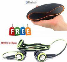 Portable Wireless Bluetooth Mini Stereo Speaker FM Radio USB/MICROSD + Ear-Phone