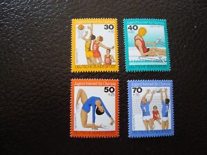 Germany-Rfa-Stamp-Yvert-Tellier-N-731-A-734-N-MNH-COL9