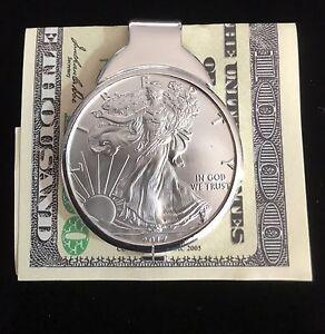 1-oz-Silver-Dollar-Liberty-Coin-Sterling-Money-Clip-2019-ASE-999-pure-bullion