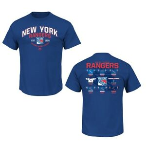 New York Rangers Blue Vintage Jersey History T Shirt Ebay