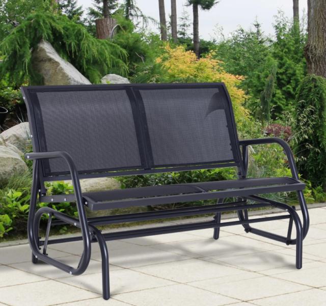 Gardens Colebrook Outdoor Glider Chair, Garden Glider Bench
