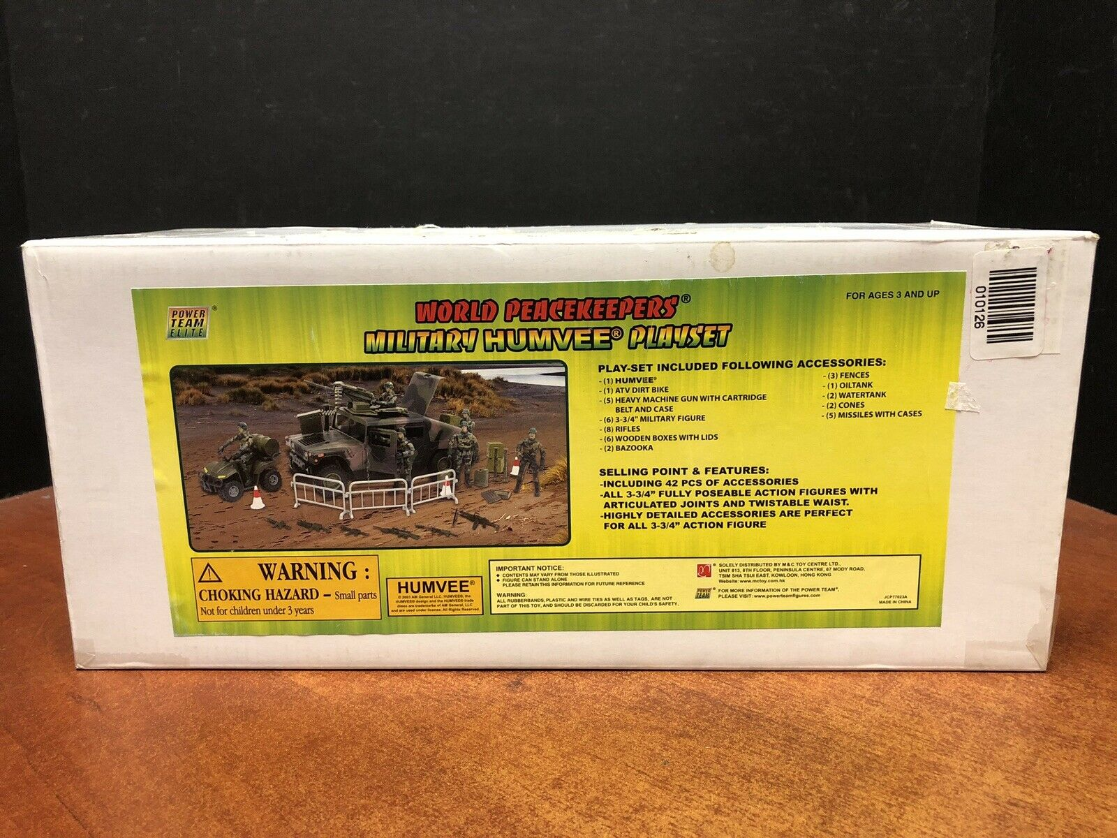 World Peacekeepers Military Humvee Playset MISB Dela1578