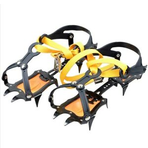 Ice-Snow-Climbing-Anti-slip-Shoe-Covers-Spike-Cleats-Crampons-10-Teeth-Spike-USA