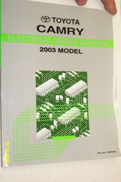 2003 Toyota Camry Electrical Wiring Diagram Manual Ewd