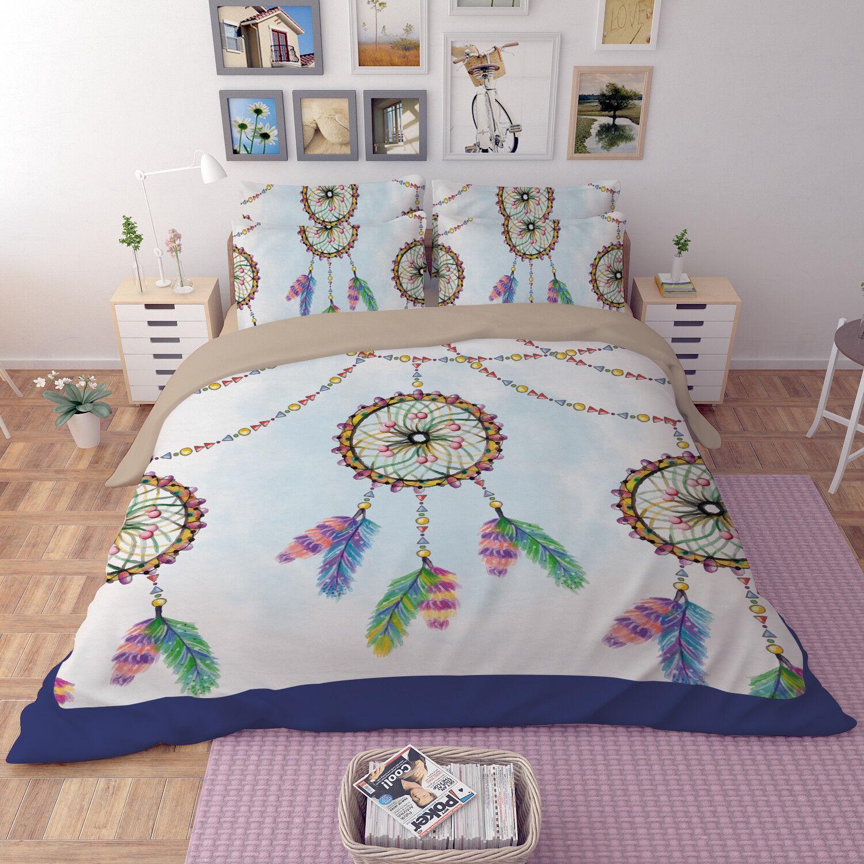 3D Dreamcatcher 99 Bed Pillowcases Quilt Duvet Cover Set Single Queen King CA