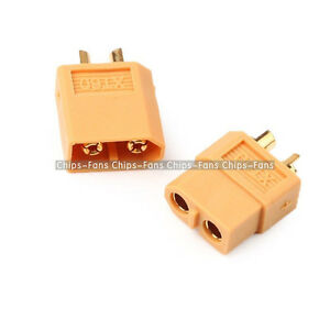 2Pairs Bullet Connectors XT60 Plugs Male & Female For RC LiPo Battery CF