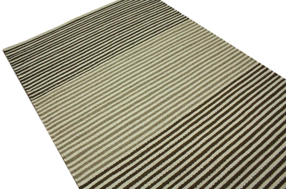 Tapis de Qualité Kelim cm 160x230 cm Kelim 100% Laine Tissé à la Main Beige Marron 523f20