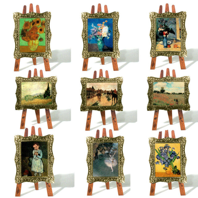 48 Impressionist Painting In Gilt Frame Greeting Card On 3D Easel EC0048