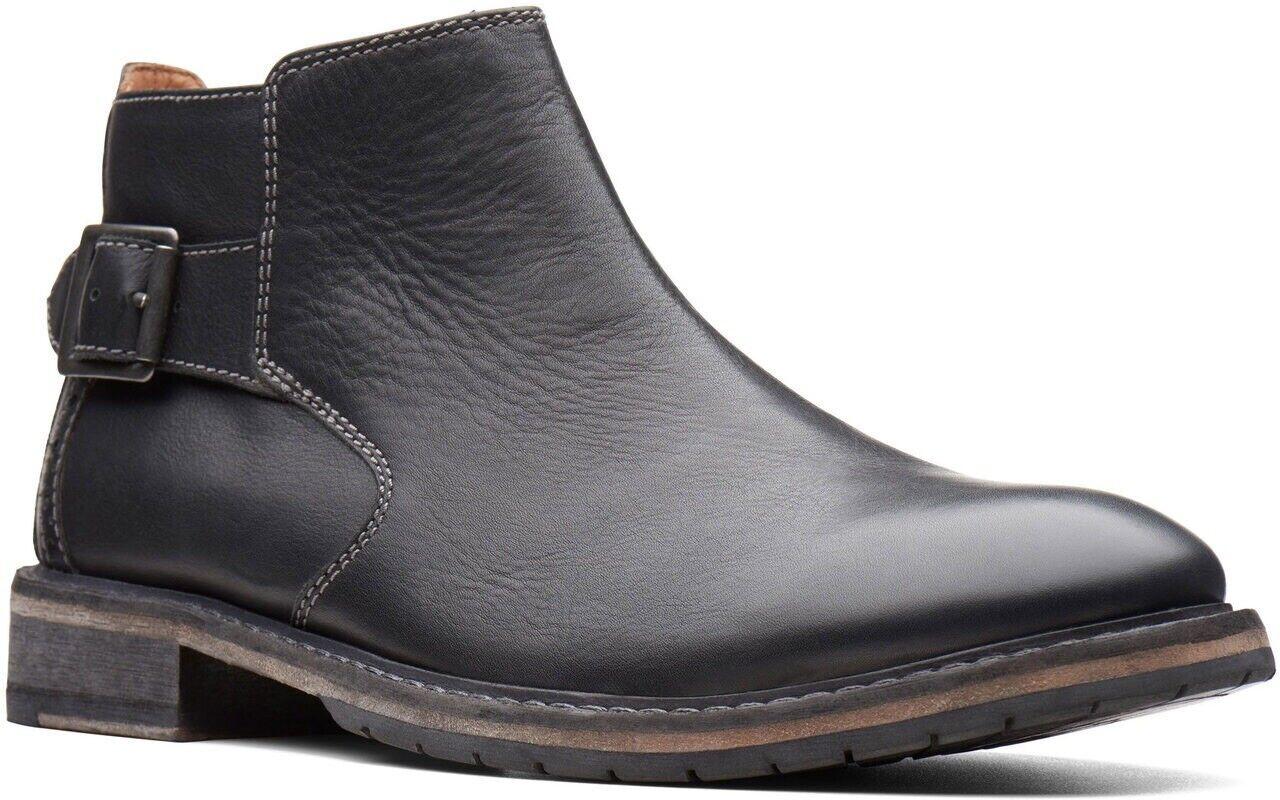 Clarks Men's Clarkdale Remi Black Leather Boots UK Size 8 G