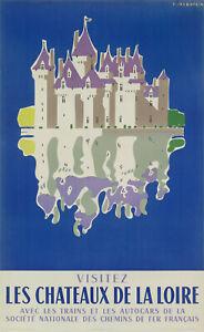 Original-Vintage-Poster-Jean-Jacquelin-Chateau-de-la-Loire-1956
