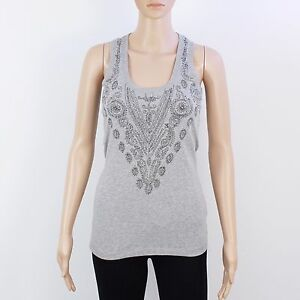 Ladies Branded Full Circle Lightweight Sleeveless Scoop Vest Top Size S M L XL