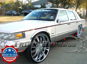 1995-1997-Lincoln-Town-Car-Sedan-Chrome-Rocker-Panel-Molding-Trim-8-034-FL-12Pc