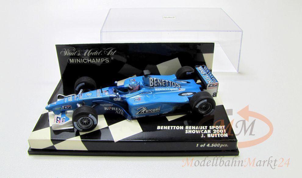 PAUL'S MODEL ART Minichamps Benetton Renault Sport Showcar Showcar Showcar 2001 Scale 1 43 - OVP c39c43