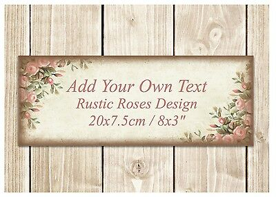VINTAGE CUSTOM-MADE DOOR SIGN Personalised Blank Shabby Chic Floral House Plaque