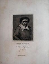 JOHN EVANS WELSH ASTROLOGER WIZARD WALES ASTROLOGY 1794 PORTRAIT  ENGRAVING